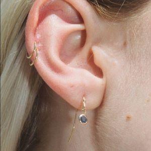 🌟 NEW Brandy Melville Silver & Blue Gem Earrings